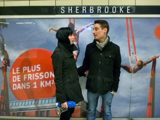 Emily and Jerome in the Metro.