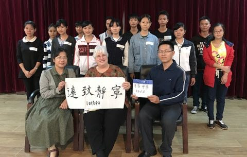 We have 160 students in 11 high school in Qinzhou Prefecture