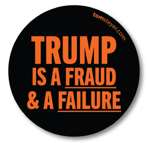 """Trump is a fraud & a failure"" sticker"