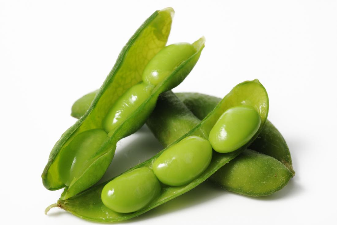 Edamame beans are a young soy bean.