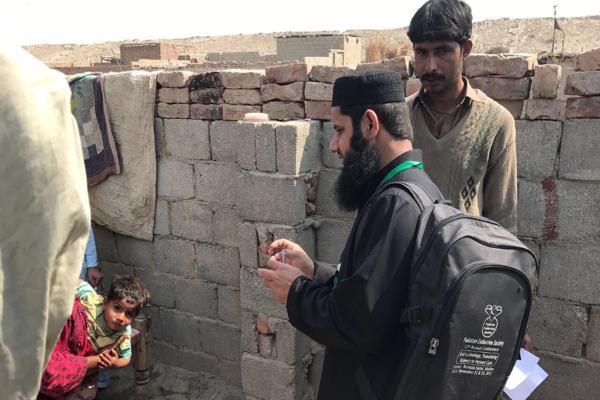 Aga Khan University conducts door-to-door surveillance in the midst of the outbreak.