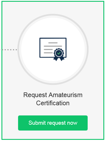 Request Amateurism Certification
