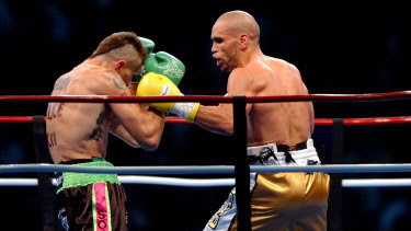 Anthony Mundine and Danny Green at an earlier fight in 2006.