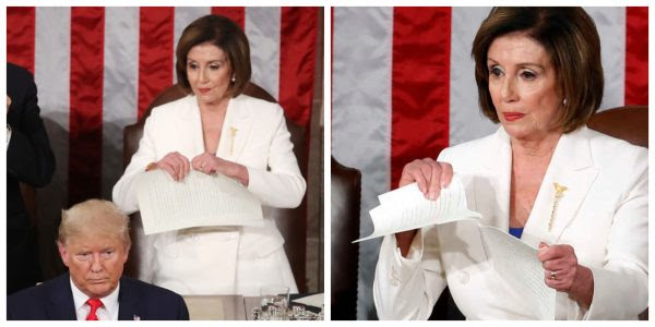 Nancy Pelosi tears up speech
