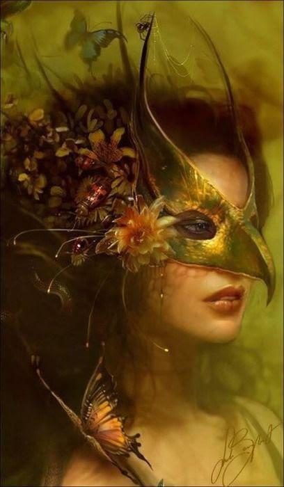 Mardi Gras Masquerade Mask - Beautiful!  Gorgeous art... painting?