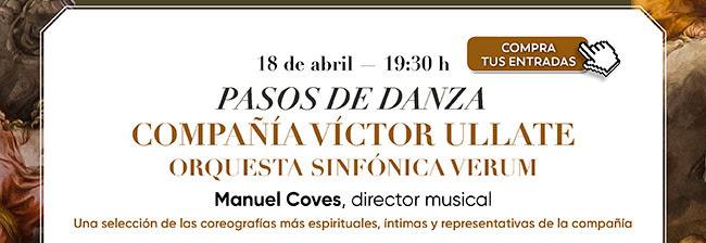 18 abril- 19:30h. Pasos de Danza. Compañía Victor Ullate. Compra tus entradas