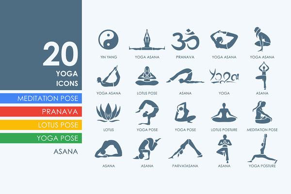 20 yoga icons