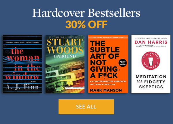 Hardcover Bestsellers 30% OFF    SEE ALL