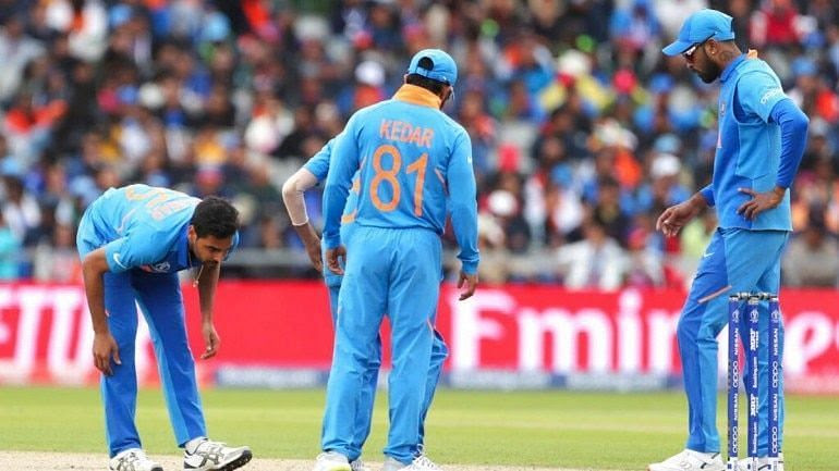 Bhuvneshwar Kumar left the field after being injured during India-Pakistan clash.