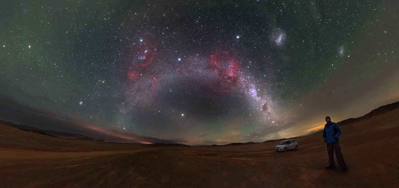 Barnard's Loop and the Magellanic Clouds