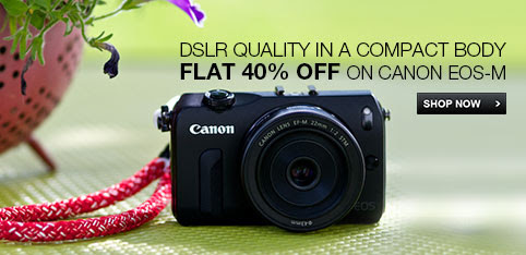 Flat 40% Off  on Canon EOS-M