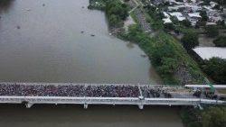 rio Suchiate. Frontera Guatemala y México