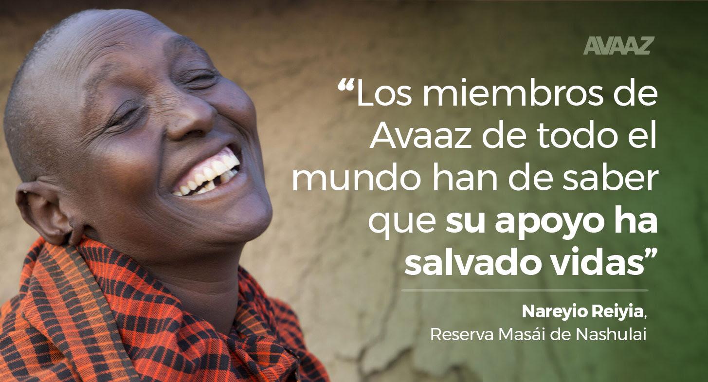 Los miembros de Avaaz de todo el mundo han de saber que su apoyo ha salvado vidas