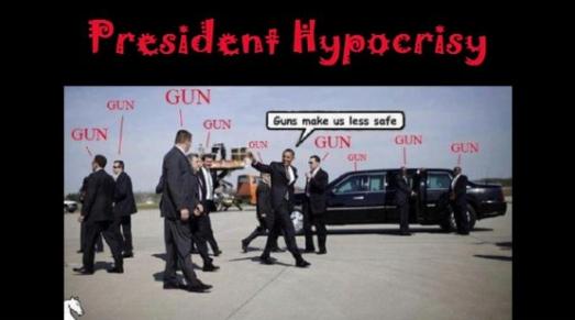 Obama - gun hypocrisy