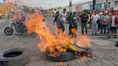 Protestas en Ecuador contra medidas económicas anunciadas por Moreno, 3 de octubre de 2019.