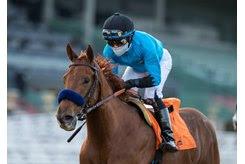 Kalypso wins the Santa Ynez Stakes at Santa Anita Park