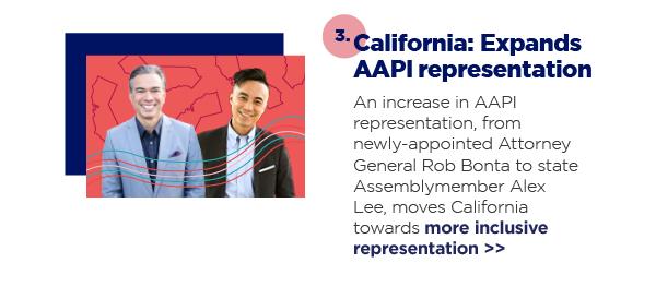 3. California: Expands AAPI representation