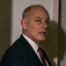 John F. Kelly, the White House chief of staff, in Florida last week with emergency workers after a gunman killed 17 people at a high school. Mr. Kelly is also facing a crisis in the West Wing after an aide resigned amid spousal abuse allegations.