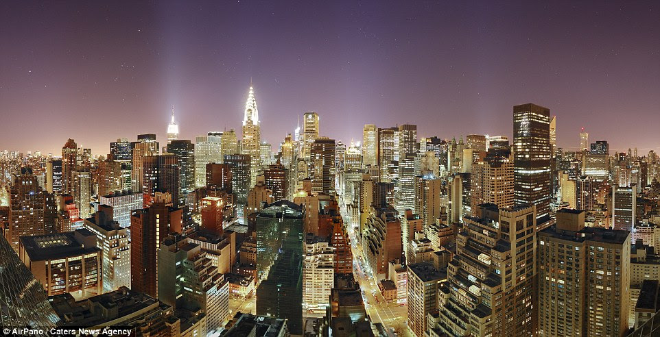 Concrete jungle lit up!