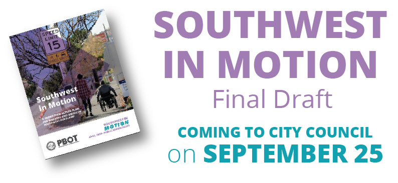 Southwest in Motion Final Draft - Coming to City Council on September 25