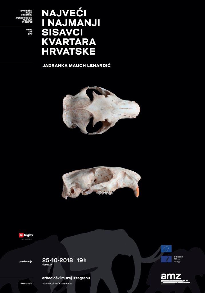 AMZ – Predavanje: Najveći i najmanji sisavci kvartara Hrvatske (PRESS)