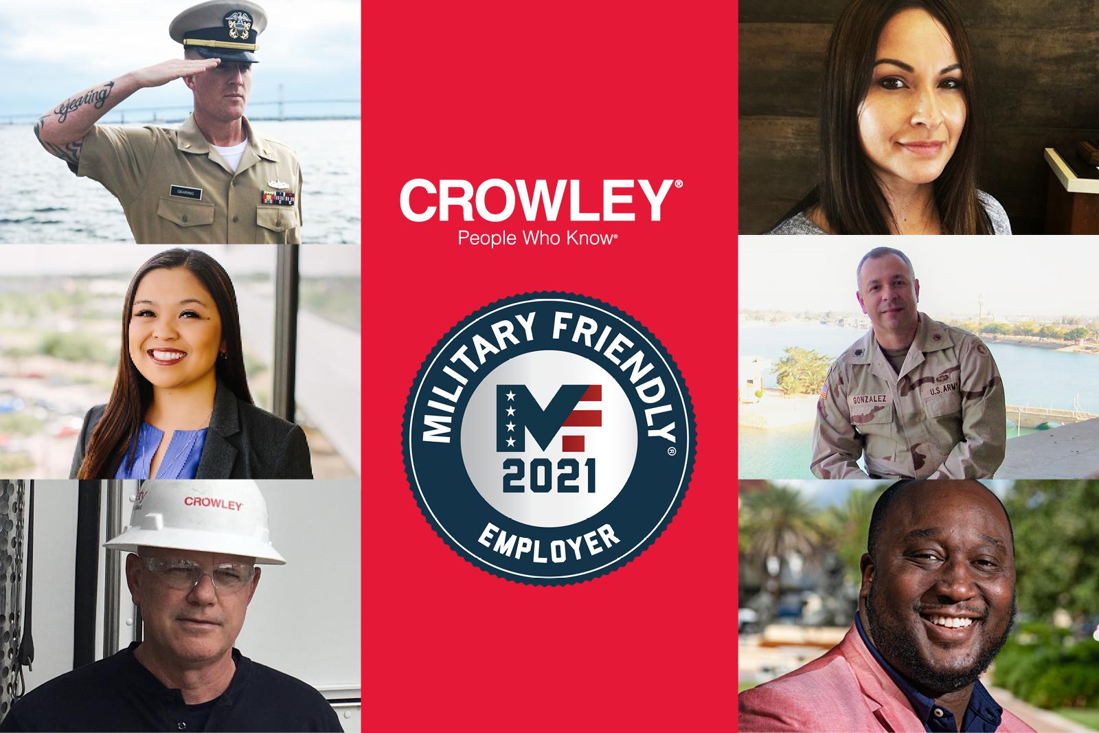 Crowley received Military Friendly employer designation
