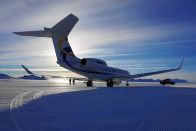 Deer Jet's Private Jet Achieves Test Flight to Antarctic's Wolfs Fang Airport
