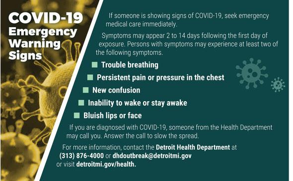 COVID 19 Warning Signs