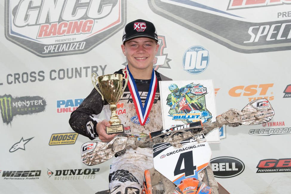 Joseph Cunningham earned his fourth-straight youth overall and YXC1 Super Mini Sr. class win.