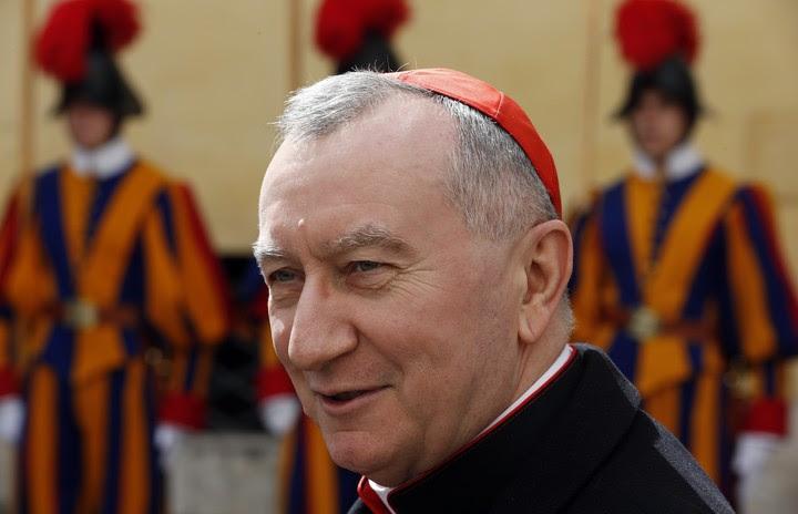 """El Secretario de Estado, Pietro Parolin, según Magister """" el único cardenal en condiciones de reunir los votos suficientes para ser elegido, en un hipotético cónclave no lejano"""" (AFP)."""