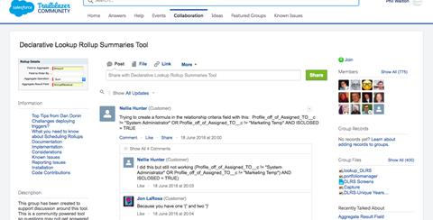 Declarative Lookup Rollup Summaries Tool