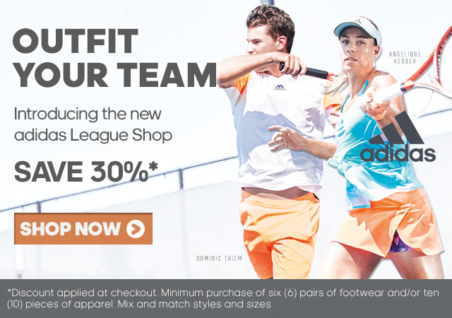 OUTFIT YOUR TEAM - Introducing the new adidas League Shop - SAVE 30%* | SHOP NOW > | *Discount applied at checkout. Minimum purchase of six (6) pairs of footwear and/or ten (10) pieces of apparel. Mix and match styles and sizes.