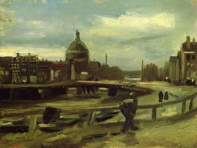 Vincent van Gogh, stadsgezicht Amsterdam