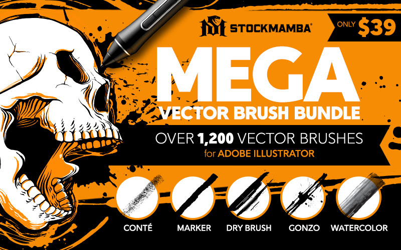 Vector Brushes For Adobe Illustrator ​