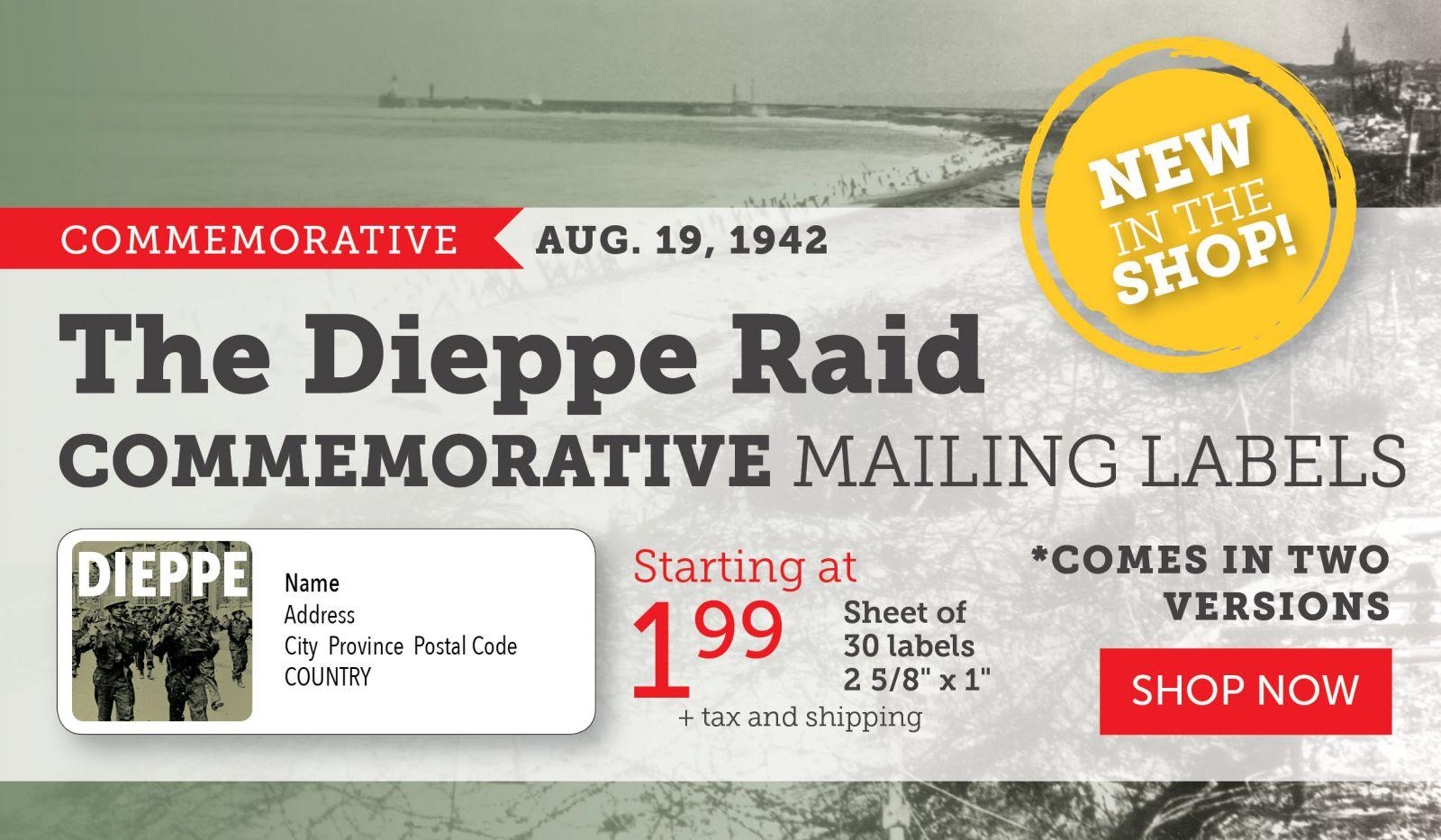 Dieppe Raid Mailing Labels!