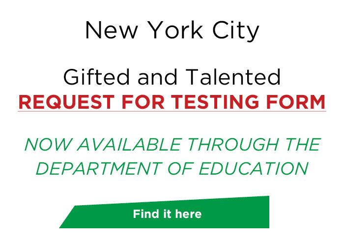 Reminder: NYC Gifted and Talented Request for Testing Form NOW Available! - FasTracKids/JEI Learning Center - Brooklyn | NearSay