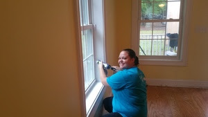 Brandi caulking all seams