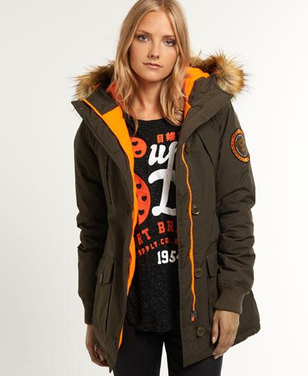 Fir Lined Hood Coat Womens - Superdry