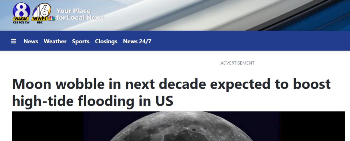 Clip of Moom Wobble headline