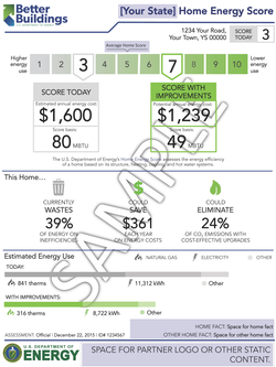 Sample home energy score report