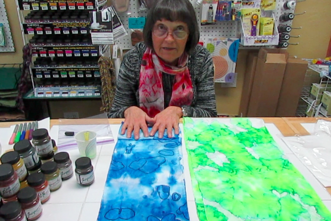 Learn to dye silk scarves at Yarn Designers Boutique