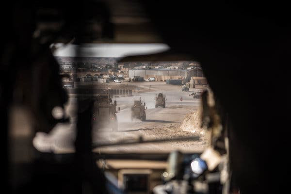 American military vehicles at Al Asad Air Base in Iraq in January. A new military campaign in Iraq could require thousands more troops.