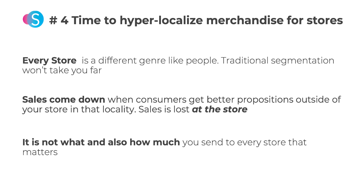 hyper-localize merchandise for stores for post COVID-19 fashion market