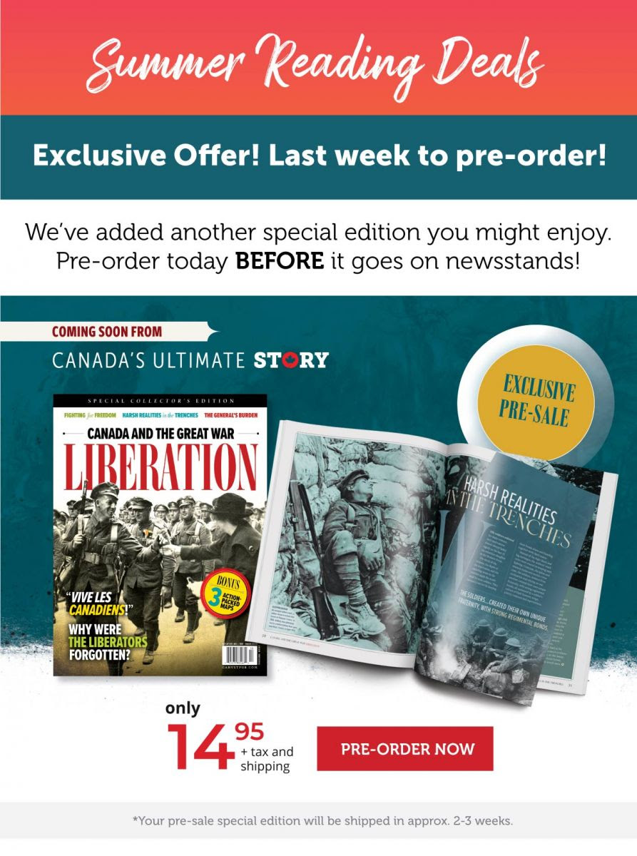 Exclusive pre-sale! pre-order your copy of the Canada and the Great War: Liberation