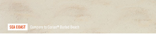 SEA COAST. Compare to Corian® Burled Beach