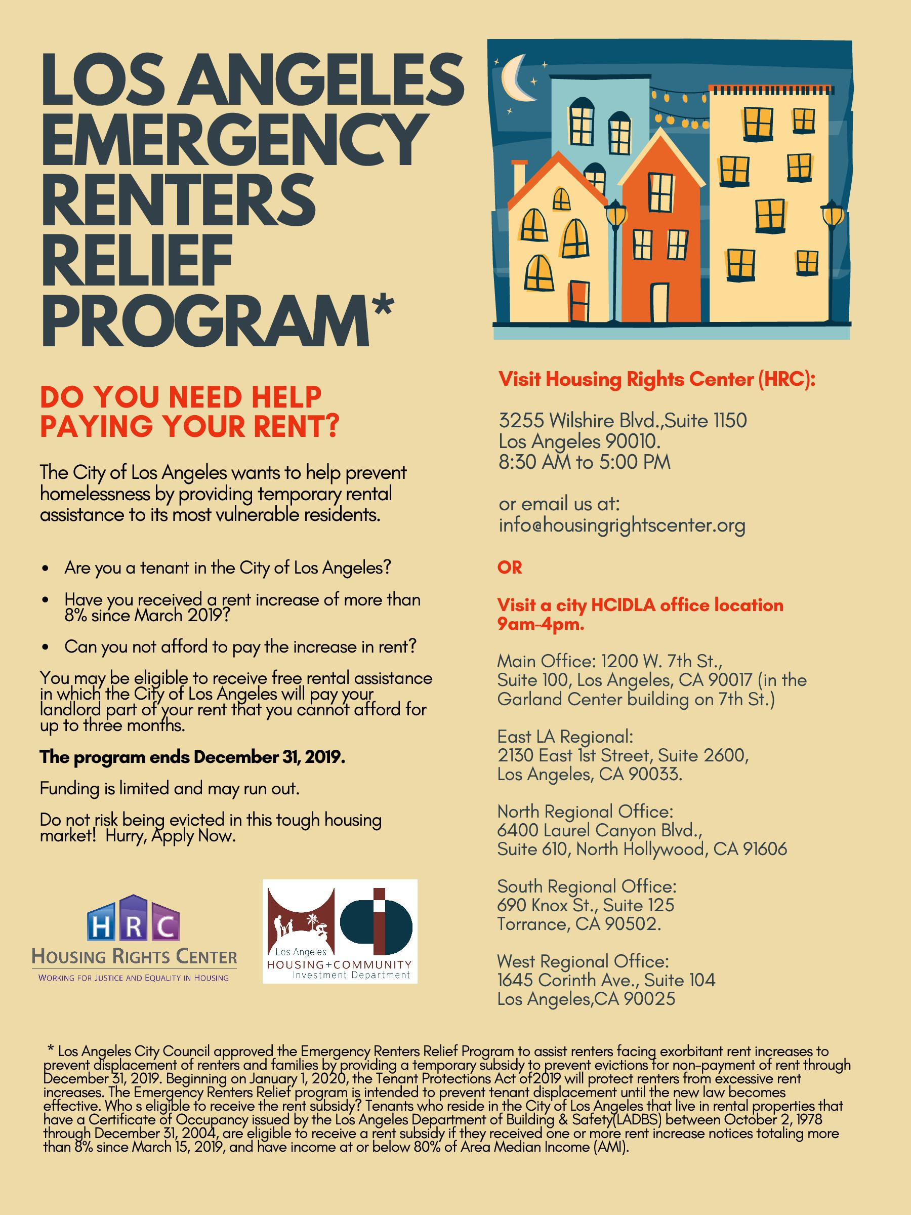 LA Renters Relief Program English