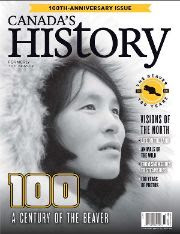 Cover of the October-November 2020 issue of Canada's History.