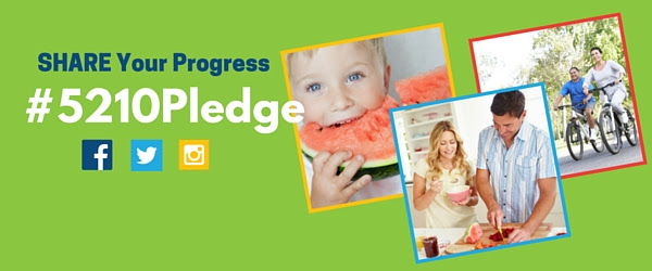 Share Your Progress on your social networks using #5210Pledge