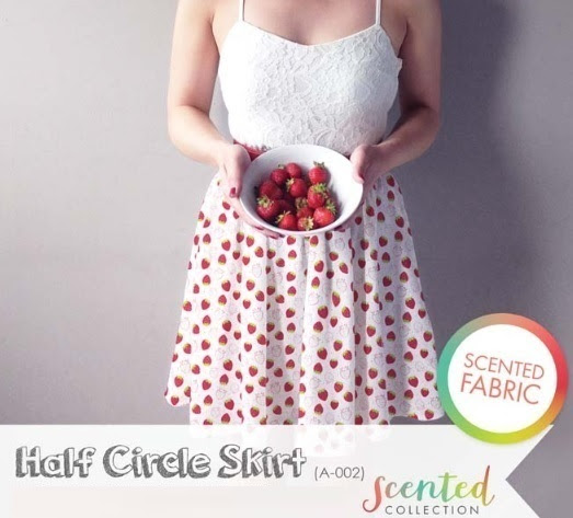 Half Circle Skirt Scented Fabric
