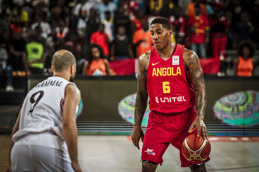 Angola and Egypt square it out at a past match